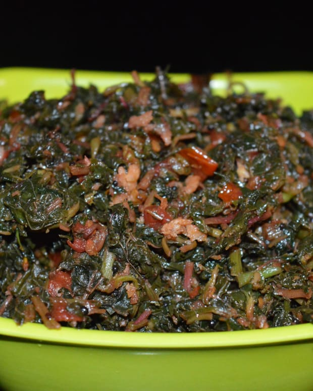 how-to-make-red-amaranth-leaves-kempu-harive-garlic-stir-fry