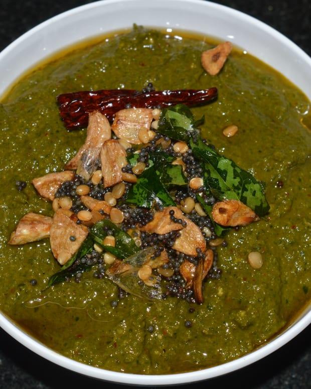 how-to-make-moringa-leaves-drumstick-leaves-chutney