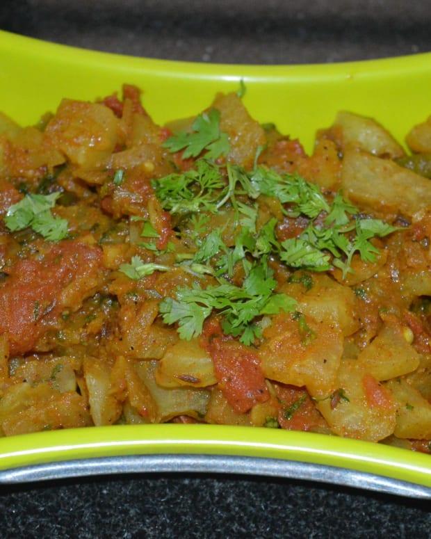 vegan-knol-khol-tomato-gravy-curry