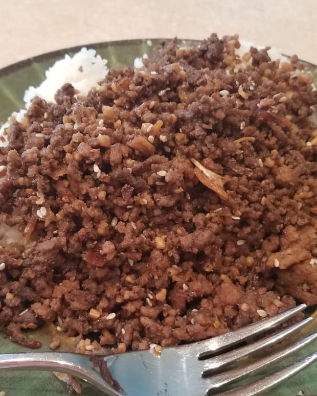 homemade-korean-garlic-beef-and-rice