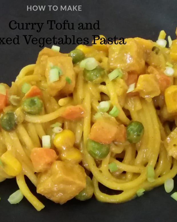 curried-tofu-and-mixed-vegetables-pasta