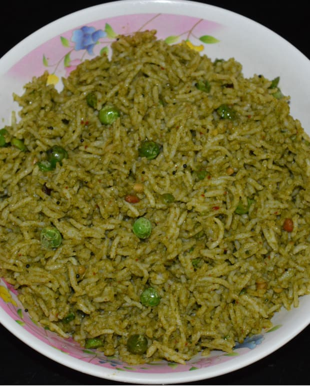how-to-make-pudina-rice-mint-leaf-rice