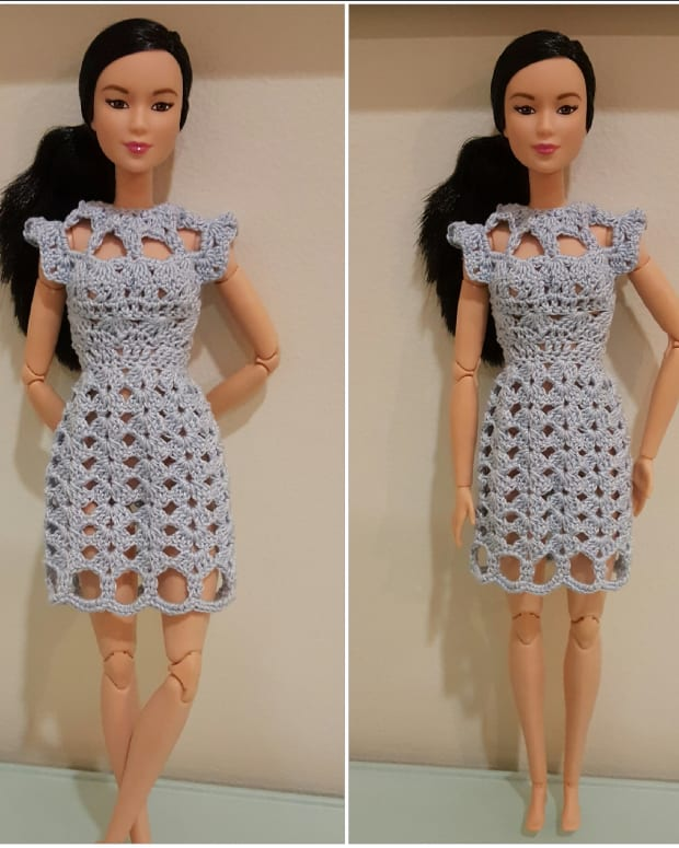 barbie-cut-out-shell-stitch-dress-free-crochet-pattern