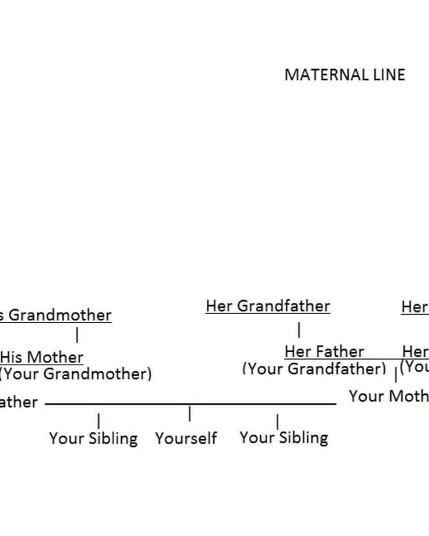 Sample DIY pedigree chart