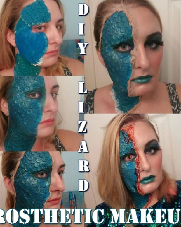 makeup-diy-special-effects-lizard-mystique-prosthetic