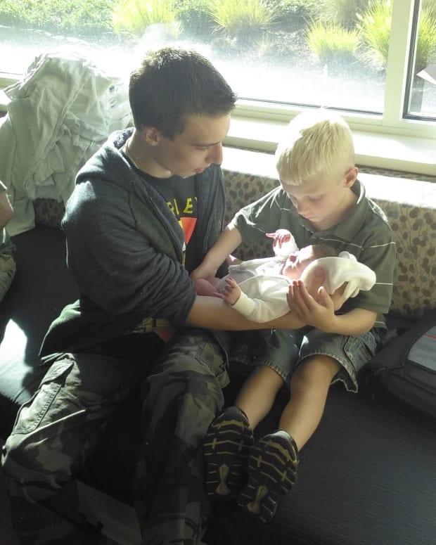 My three sons.. Gavin(17) Elias(7) Daxton(one day)