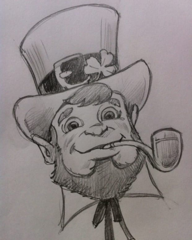 drawing-a-leprechaun