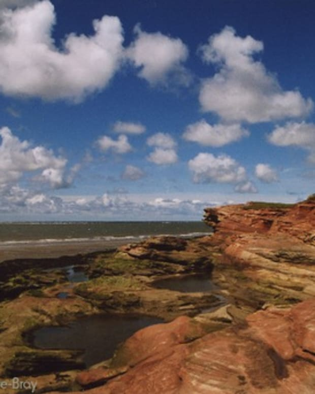 Standing on Hilbre Island, looking across the mouth of the River Dee and into the Irish Sea.