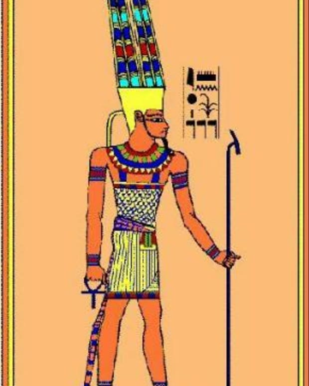 "Amoun also known as Amon, Ammon, Amun and Amen. Egytian God known as 'king of the gods"" and ""Lord of Heaven,"" Nome God of Thebes and father of Khonsu. The omans identified him with Jupiter"