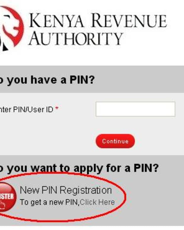 Applying for KRA Pin using iTax