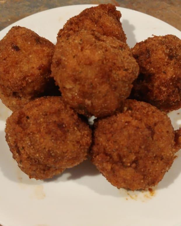 fried-turkey-meatballs