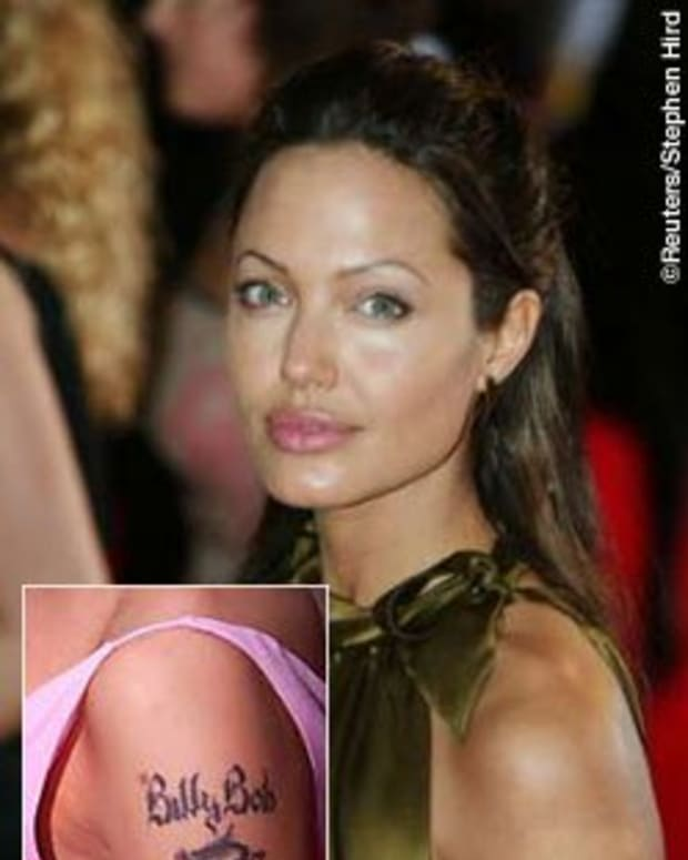 """Angelina's """"Billy Bob"""" tattoo dissolved almost as quickly as their marriage"""