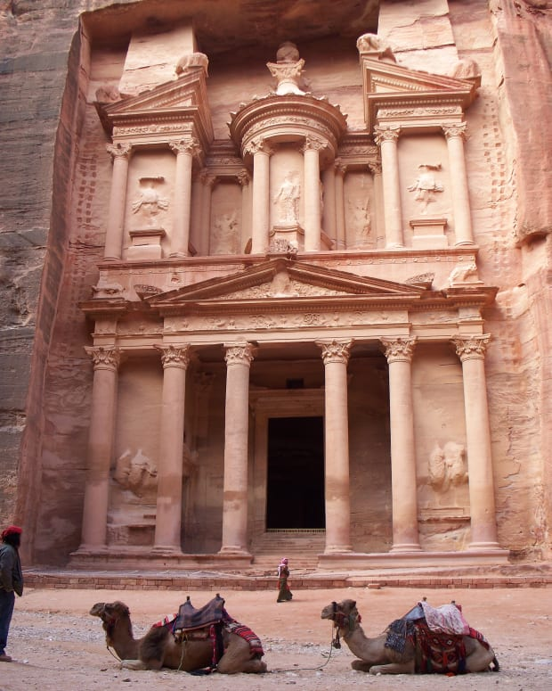 "You may recognize this from ""Indiana Jones and the Last Crusade.""  It was the Temple of the Holy Grail."