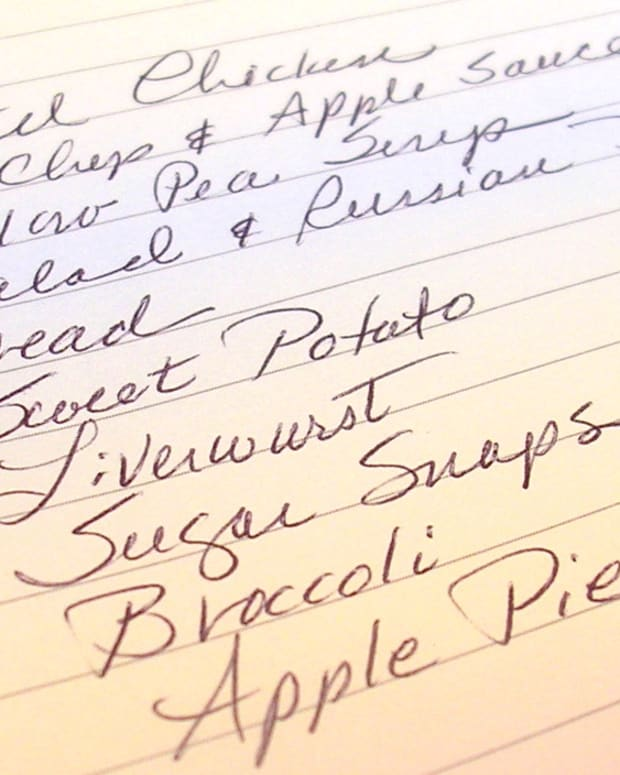 Base your easy weekly menu on the foods you like. Photo by Sally's Trove.
