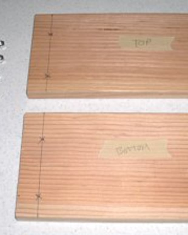 "You will need 2 - 12""x 6"" poplar or pine boards 3/4"" thick. Hardware displayed."