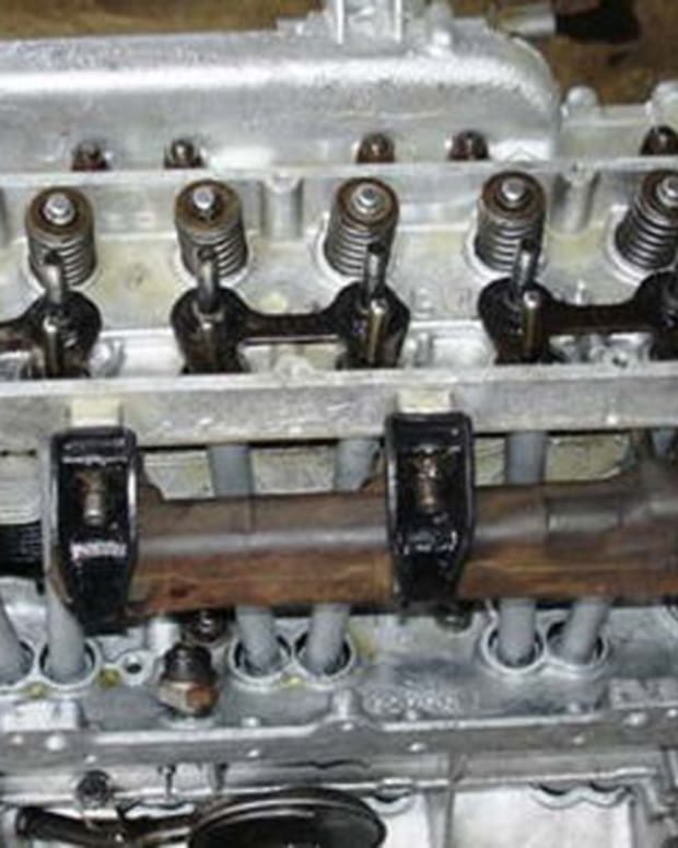 You can see the Push rod tubes from the head to block, two for each cylinder.