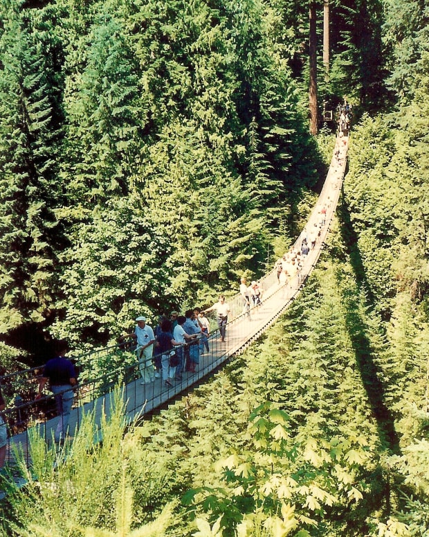 The Capilano Suspension Bridge * Photo by Peggy W