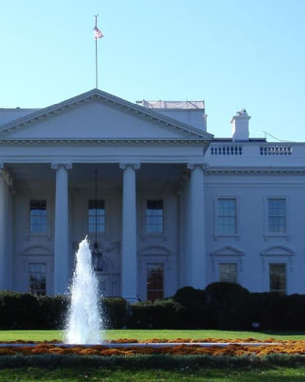 The White House as it appears from the north. Photograph by David Lat.