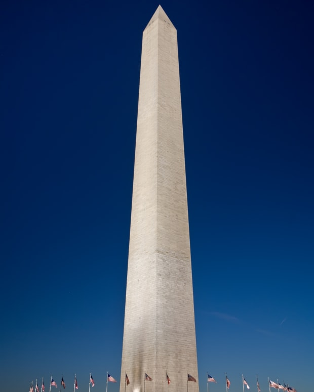 The Washington Monument in Washington, D.C. is still the tallest stone structure in the world.