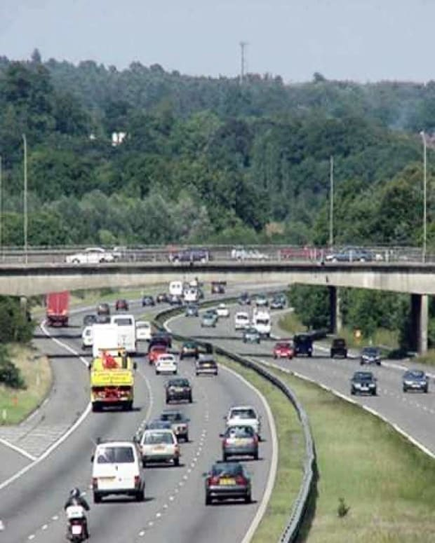 Another motorway, that shows left hand traffic