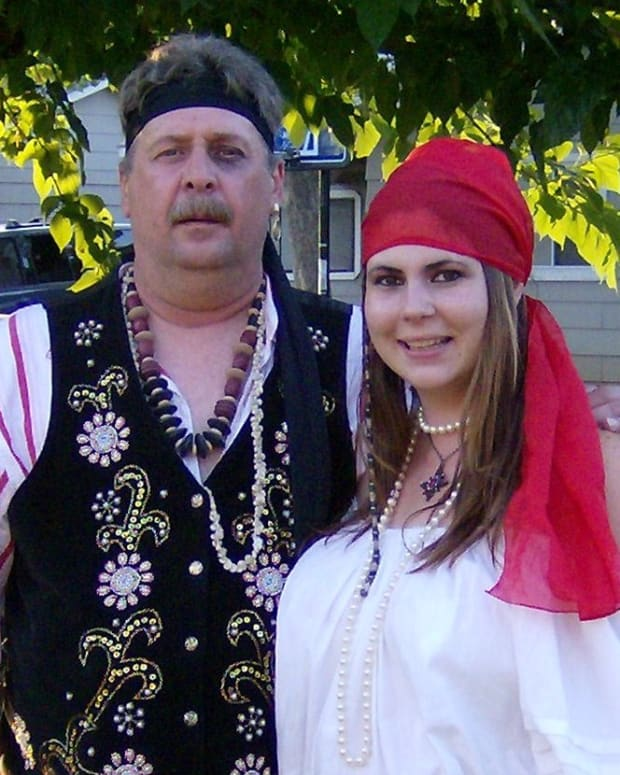 Me and Paul going to a Pirate Party with friends