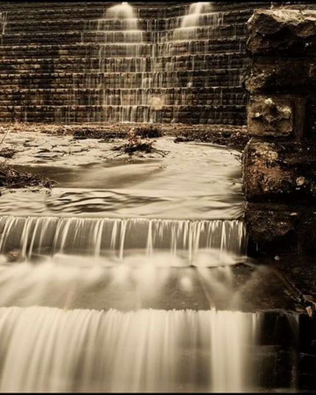 Near Okmulgee State Park, the Okmulgee Lake spillway is an engineering marvel.