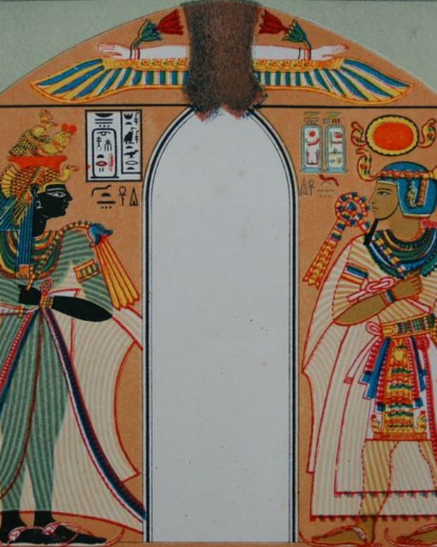 Queen Ahmose-Nefertari and Amenhotep I