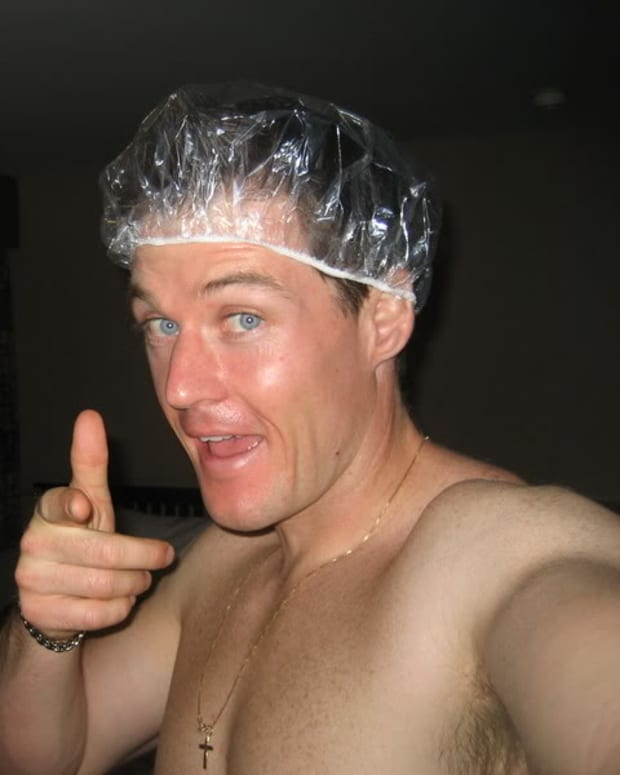 Don't be this guy - we don't want to see you in a showercap!