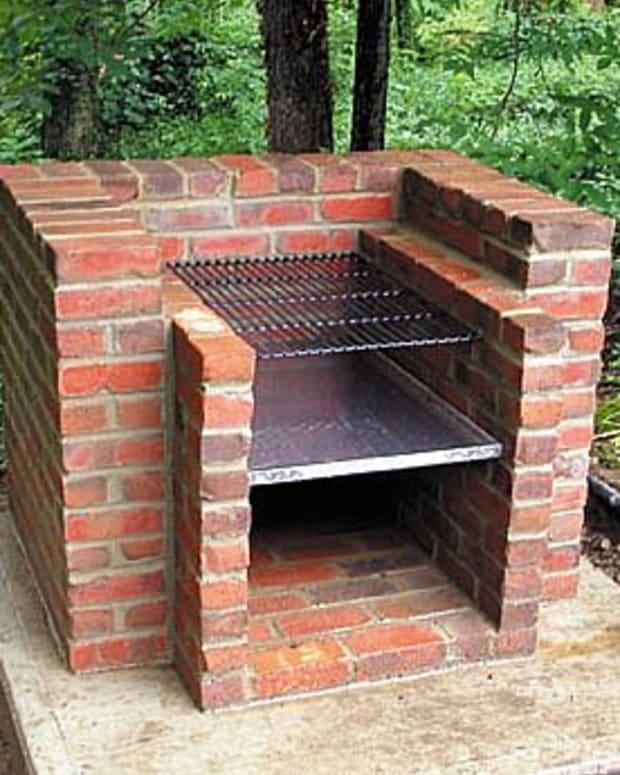Build a conventional brick BBQ...