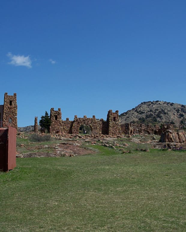 Oklahoma's Holy City: An overall view of the Holy City of the Wichitas.