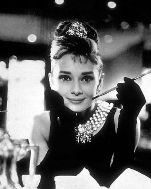 "Audrey Hepburn in her most iconic role, Holly Golightly in ""Breakfast at Tiffany's"""