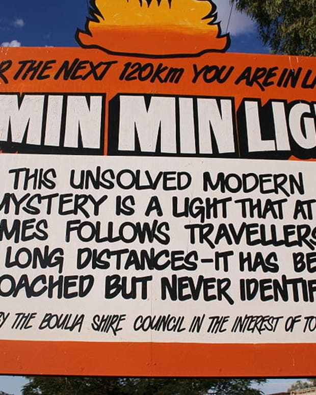 Min Min Lights Sign, Boulia, Queensland