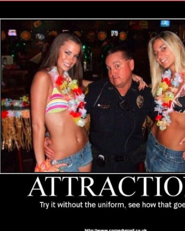 What made him attract such hot girls?