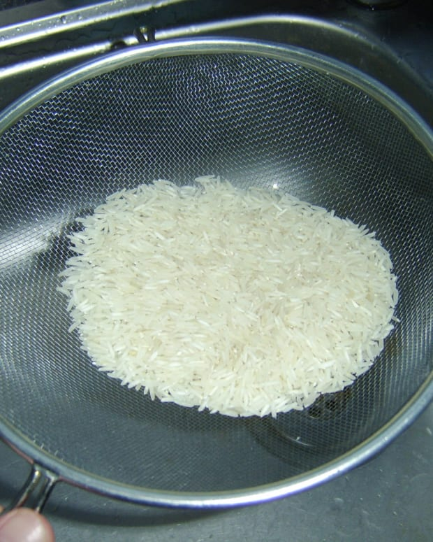 Washing Basmati Rice