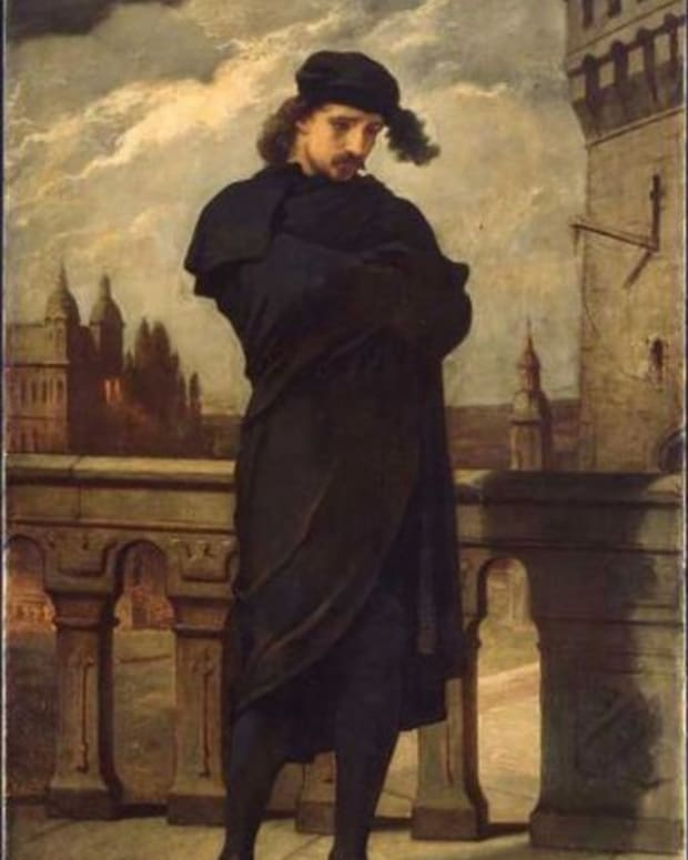 'Hamlet' by William Morris Hunt, circa 1864. This is a file from the Wikimedia Commons. http://en.wikipedia.org/wiki/File:Hamlet_William_Morris_Hunt.jpeg
