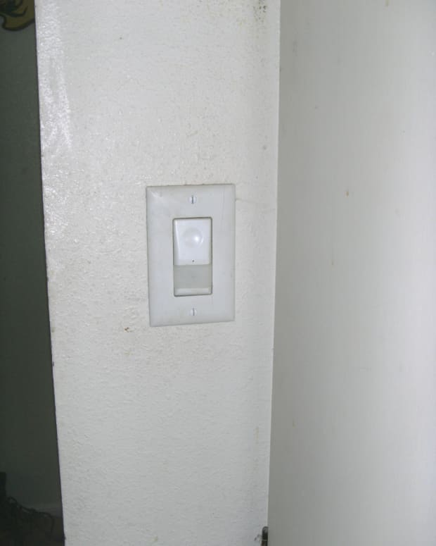 An automatic occupancy sensor to be replaced with a regular switch
