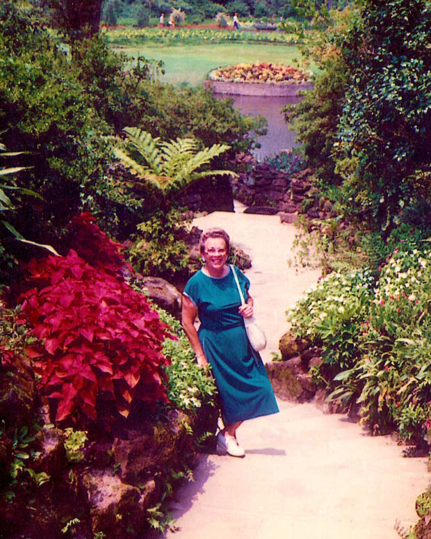 Photo of my Mother at Bellingrath Gardens by Peggy W