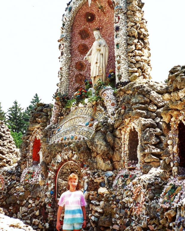 Photo of my niece at the Dickeyville Grotto by Peggy W