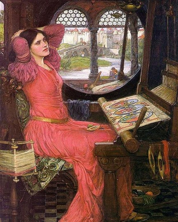 'I am half sick of shadows' said the Lady of Shalott, by John william Waterhouse, 1915. Property of the Art Gallery of Ontario. Image courtesy of Wiki Commons