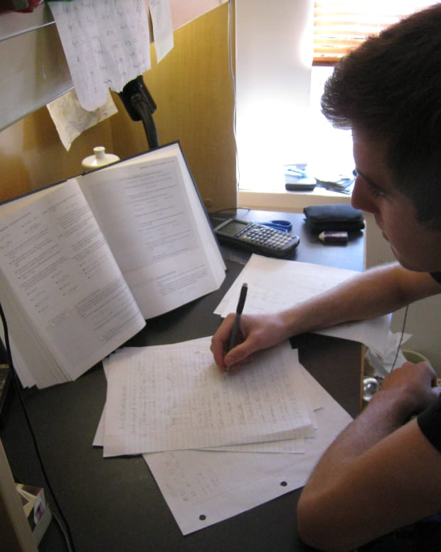 A student preparing for an exam Image Credit: The Wikipedia