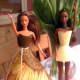 Choose bright wallpaper sheets to make Barbie a new wardrobe!
