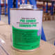A small tin of PVC cement/glue