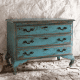 Teal chest of drawers