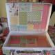 Scrapbook paper squares suitcase