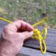 Adding a slip half-hitch, step 1