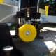 Photo of Stanley 20-800 Contractor Grade Clamping Miter Box shows push-button used to adjust angle of blade.