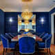Few dining rooms are painted blue due to its properties of appetite suppression.