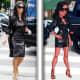 Kim Kardashian wears an edgy leather dress