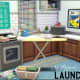 """Now that we have laundry in """"The Sims 4"""", why not fill out your laundry room with some of this cute CC set?"""