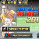"The main screen in ""Football Hero."""